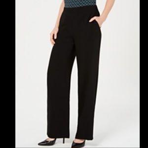 Nine West Black Wide Leg Dress Pants